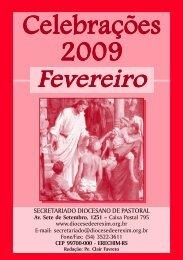 Celebrações FEV 2009.p65 - Diocese de Erexim