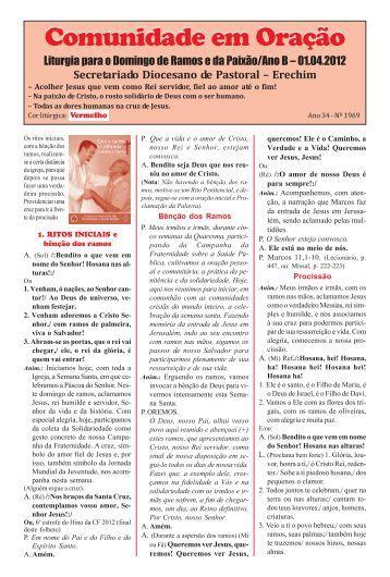 missas abril 2012.pmd - Diocese de Erexim