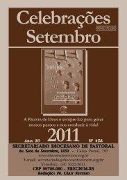 celebrações set 2011.pmd - Diocese de Erexim
