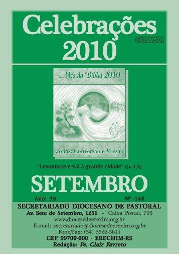 celebrações set 2010.pmd - Diocese de Erexim