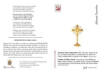 Apostolado da Oração - 13 de março de 2013