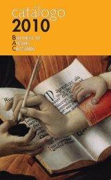 catálogo 2010 - Biblioteca de Autores Cristianos