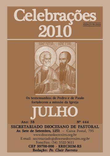 celebrações julho 2010.pmd - Diocese de Erexim