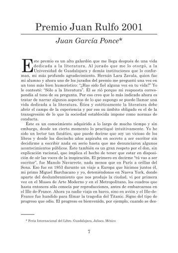 Premio Juan Rulfo 2001