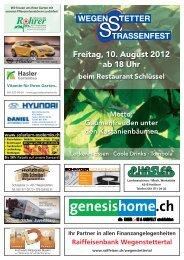 Freitag, 10. August 2012 ab 18 Uhr beim Restaurant Schlüssel Motto