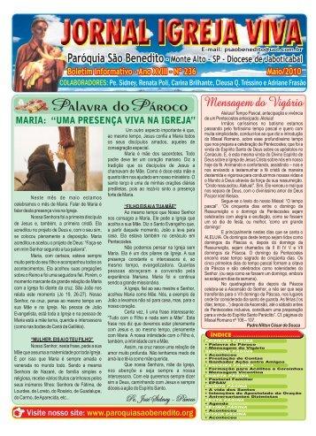 Jornal Igreja Viva Maio 2010 - Paróquia São Benedito