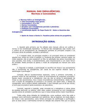 Manual das Indulgências - Paróquia (igreja) Nossa Senhora da ...