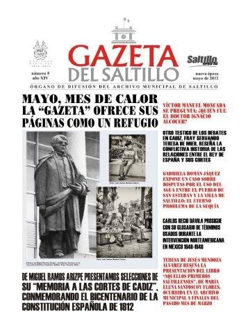 gazeta mayo 2012.pmd - Archivo Municipal de Saltillo