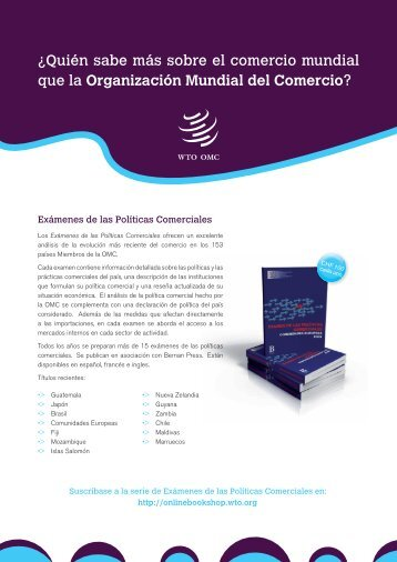 Folleto de publicaciones comerciales - World Trade Organization