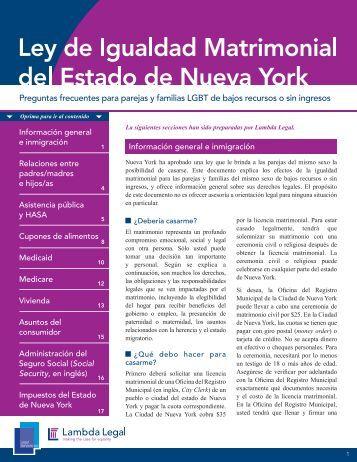 Preguntas frecuentes para parejas y familias LGBT ... - Lambda Legal