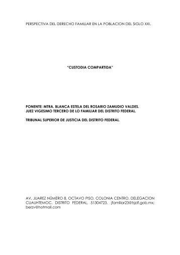 Custodia Compartida - Projusticia Familiar