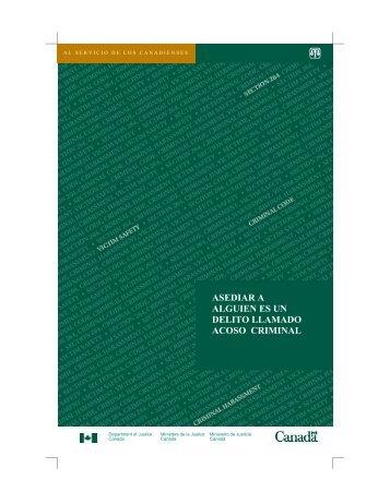 al servicio de los canadienses - Justice