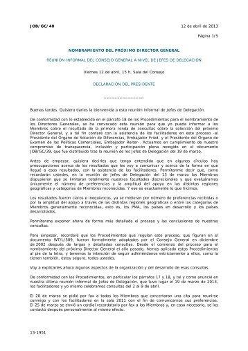 13-1951 JOB/GC/40 12 de abril de 2013 Página 1/5 ...