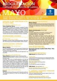 Progamacion cultural Distrito Latina Mayo 2012 - Colegio San ...