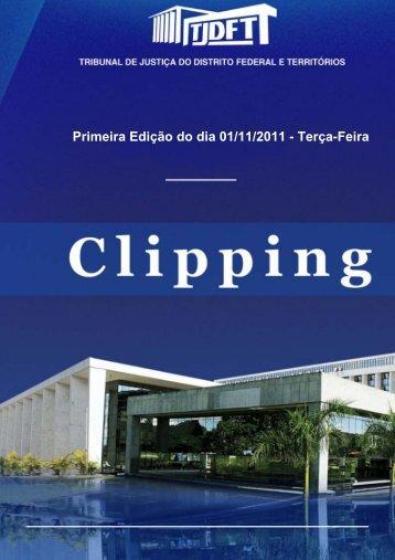 Primeira Edição do dia 01/11/2011 - Terça-Feira - TJDFT na mídia
