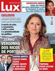"""""""TENHO VERGONHA DOS RICOS DE PORTUGAL"""" - Lux - Iol"""