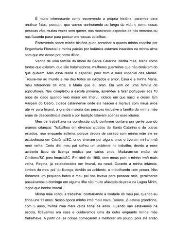 Depoimento - Regiane - Conexões de Saberes UFPR