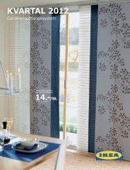 IKEA KVARTAL Gardinenaufhängungssystem 2012