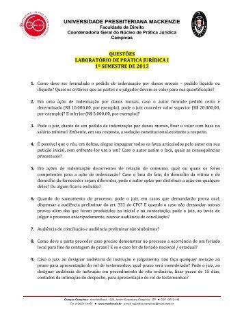 Caderno de Exercícios 1º semestre de 2013 - Universidade ...