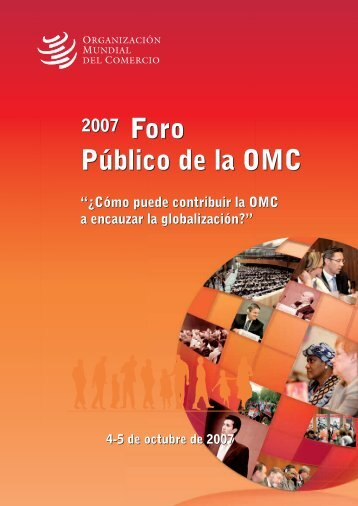Foro Público de la OMC - World Trade Organization