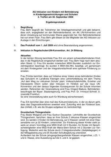 AG Inklusion von Kindern mit Behinderung in ...