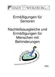 Ermäßigung für Senioren - Stadt Würzburg