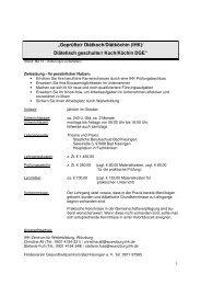 Infoblatt Geprüfte/r Diätkoch/Diätköchin Informationen zum Lehrgang