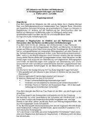AG Inklusion von Kindern mit Behinderung in ... - Stadt Würzburg