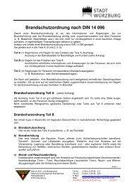 Info-Blatt - Brandschutzordnung nach DIN 14 096 - Stadt Würzburg