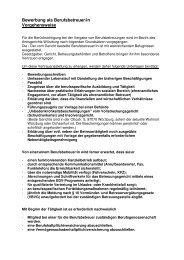 Bewerbung als Berufsbetreuer 09.03.2011 - Stadt Würzburg