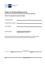 Zerspanungsmechaniker Sachliche und zeitliche Gliederung der ...
