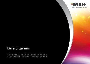 Produktkatalog 2013 herunterladen - bei WULFF