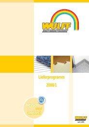 Lieferprogramm 2008/1 besser anders! - bei WULFF
