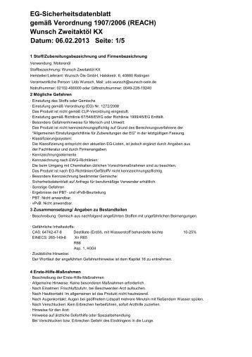 zweitaktoel kx - Wunsch  Öle GmbH