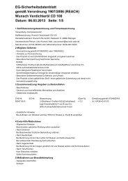 Wunsch Verdichteröl CD 100 Datum: 06.03.2013 Seite: 1/5 EG ...