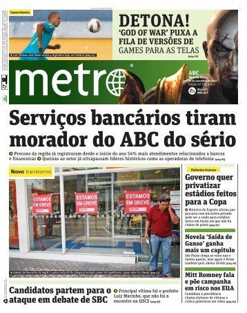 Serviços bancários tiram morador do ABC do sério - Metro