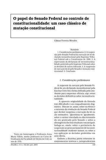 um caso clássico de mutação constitucional - Atualidades do Direito
