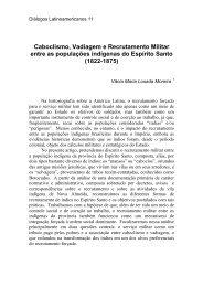 NDIOS DE NOVA ALMEIDA: SERVIO MILITAR E INTEGRAO SOCIAL