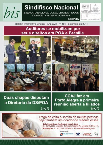 BIS 101 - SINDIFISCO NACIONAL Delegacia Sindical em Porto Alegre