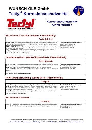 Tectyl Werkstaetten - Wunsch Öle GmbH