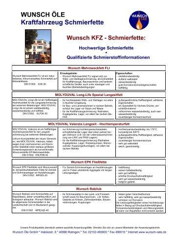 KFZ Fette - Wunsch Öle GmbH