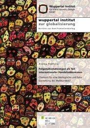 Folgenabschätzungen als Teil internationaler ... - Wuppertal Institut