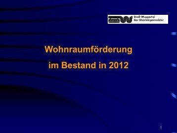Vortrag Renate Galvagni, Abteilungsleiterin ... - Stadt Wuppertal