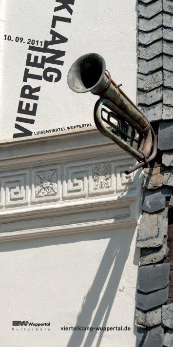 Programmheft Viertelklang - Stadt Wuppertal
