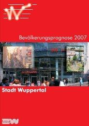 Bevölkerungsprognose 2007 Stadt Wuppertal