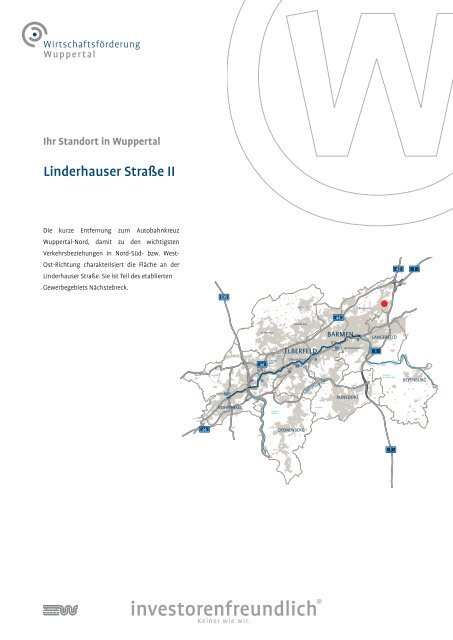Linderhauser Straße II - Stadt Wuppertal