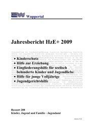 HzE+ 2009 Bericht - Stadt Wuppertal