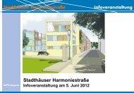 Stadthäuser Harmoniestraße Infoveranstaltung - Stadt Wuppertal