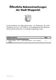 Bekanntmachungen vom 17.07.2008 - Stadt Wuppertal