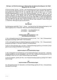 Beitrags- und Gebührensatzung  zur Satzung über ... - Stadt Wuppertal